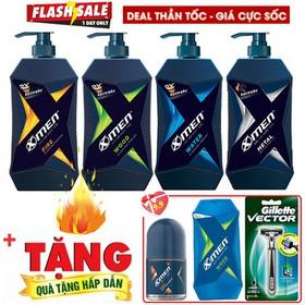 [Tặng quà x3] Khi mua Dầu Gội Nước hoa X-Men Water, Metal , Wood, Fire 650g - X3DGXM