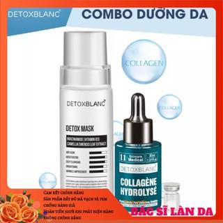 Combo mask thải độc+serum collagen dưỡng trắng da detox blanc - DGGEGTYR 2