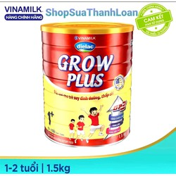 [HSD T3-2023] Sữa bột Vinamilk Dielac Grow Plus 1-Hộp thiếc 1.5kg