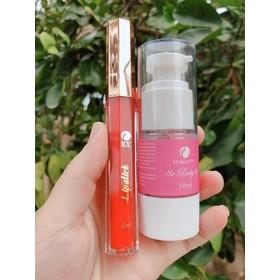 Khử Thâm Môi 8x Baby Lip Tặng 1 Son Lì Lipstick (Màu Đỏ Cam Siêu Xinh) - KHUTHAMMOI8X