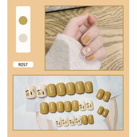 Móng tay giả có keo sẵn nail giả đẹp bộ 24 móng tay giả nhựa hot trend móng giả bộ móng tay giả KR-MT01 - KR-MT01