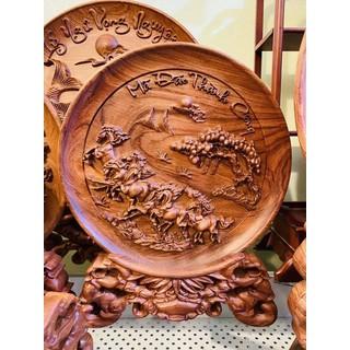 Tranh đĩa Mã Đáo Thành Công gỗ Hương nguyên khối - TDMDTC01 thumbnail