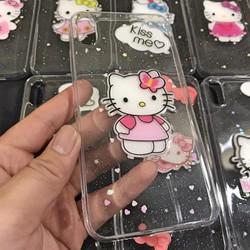 Ốp Lưng iPhone X - Xs Dẻo Trong Lưng Cứng Không Ố Vàng Hình Hello Kitty