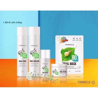 Bộ Sản Phẩm Tái Tạo Và Dưỡng Trắng Da Ốc Sên S+Miracle 80 Snail Hàn Quốc - Chính Hãng thumbnail