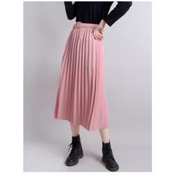 Chân váy dài xếp ly