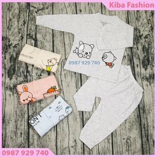 Bộ Quần áo dài tay cúc giữa cho bé trai, bé gái từ 4-14kg (1 Bộ) -BLH0380- bộ quần áo dài tay cho bé