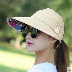 Mũ chống nắng _Mũ chống nắng kiểu hàn quốc có thể gấp lại_Mũ Nón Chống Nắng