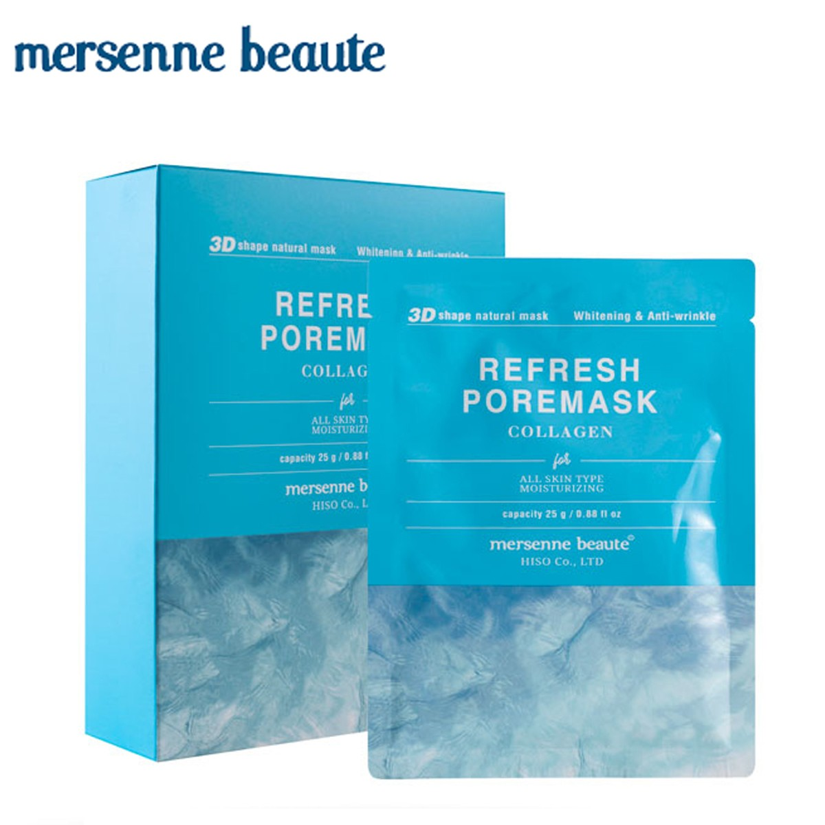 HỘP 10 MIẾNG MẶT NẠ TINH CHẤT COLLAGEN REFRESH PORE MASK MERSENNE BEAUTE