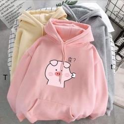 Áo hoodie heo béo dễ thương