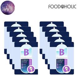 Hộp 10 Mặt Nạ Dưỡng Ẩm, Hỗ Trợ Thu Nhỏ Lỗ Chân Lông Chiết Xuất Vitamin B Foodaholic Derma Soothing Moisture Mask 23g x 10