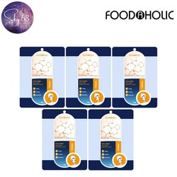 Combo 5 Mặt Nạ Chống Lão Hóa, Bổ Sung Collagen Mờ Nếp Nhăn Foodaholic Firm Collagen Anti Aging Essential Mask 23g x 5