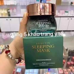 Mặt nạ ngủ arbutin sleeping mák(120g) (Tặng 5 khẩu Trang y tế 4 lớp Minh Anh)