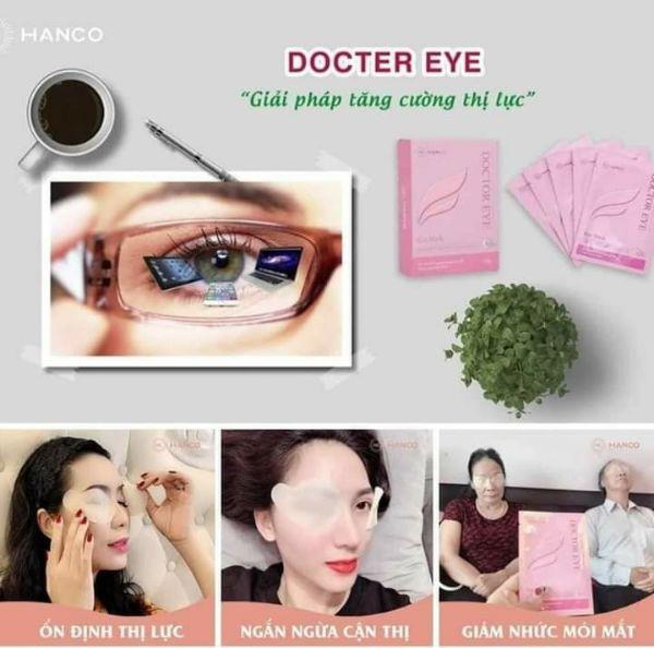 Mặt nạ dưỡng mắt Hanco 1 hộp 20 cặp giúp mắt sáng khỏe, hỗ trợ thị lực, cải thiện giấc ngủ