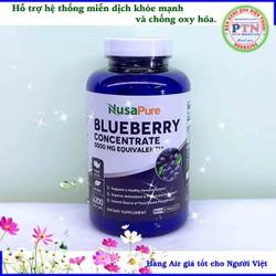 Hỗ trợ hệ thống miễn dịch khỏe mạnh NusaPure Blueberry Concentrate 5000mg 200 viên