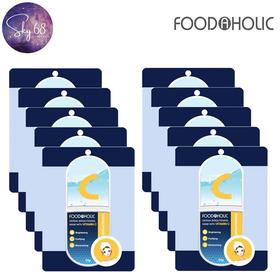 Hộp 10 Mặt Nạ Dưỡng Ẩm, Sáng Da Chiết Xuất Vitamin C Foodaholic Derma Brightening Mask 23g x 10 - 10.Foodaholic.Vitamin C