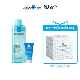 Bộ sản phẩm nước tẩy trang làm sạch sâu giàu khoáng dành cho da dầu mụn La Roche Posay Effaclar Micellar Water Oily Skin - 8935274615037