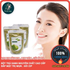 Bột trà xanh nguyên chất trị mụn - botraxanh