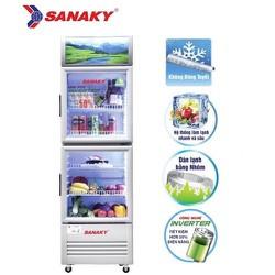 Tủ mát Sanaky 2 cánh kính mở Inverter 170 lít VH-218W3L