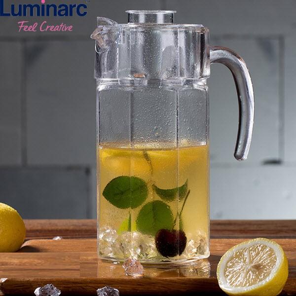 Bình nước thủy tinh 1.6L Luminarc Octime G2665
