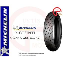 VỎ XE MÁY MICHELIN SIZE 130.70-17 TL/TT PILOT STREET