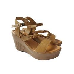 Giày Sandal Nữ Đế Xuồng BIGGBEN Da Bò Thật SĐX37
