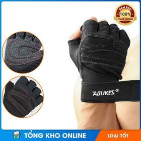 Găng tay tập gym có cuốn cổ tay AL109 (1 đôi) - Găng tay tập gym có cuốn cổ tay