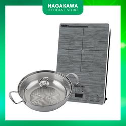 Bếp Từ Đơn Nagakawa NAG0708 (2000W) - Kèm Nồi Lẩu-Công nghệ cảm biến IGBT của Đức - Bảo hành 12 tháng