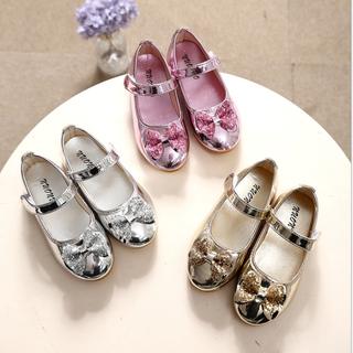 Giày búp bê cho bé, giày cho bé đính nơ, giày bệt cho bé 21208 - 21208 thumbnail