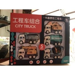 Bộ đồ chơi 5 xe công trường các loại, hàng đẹp - Bộ 5 xe công trường thumbnail