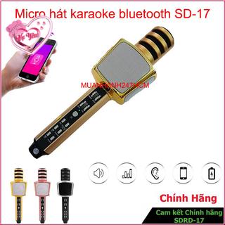 Micro Hát Karaoke Bluetooth Sd 17 Mic Hát Không Dây Giải Trí Tại Nhà - 6224420710 thumbnail