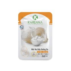 Mặt Nạ Giấy Tơ Tằm - Yến Sào KOREANA CAO CẤP dưỡng ẩm, cung cấp dưỡng chất cho da (Gói)