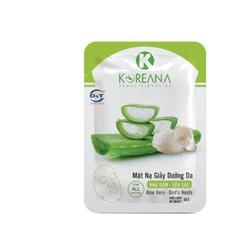 Mặt Nạ Giấy Nha Đam-Yến Sào KOREANA CAO CẤP dưỡng ẩm, cung cấp dưỡng chất cho da (Gói)