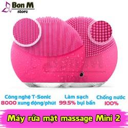 Máy rửa mặt massage mini 2 bảo hành 1 đổi 1 công nghệ sóng âm làm sạch da hiệu quả