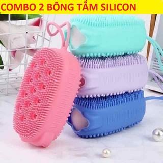 Bông Tắm - Bông Tắm Silicon Tạo Bọt - COMBO 2 BÔNG TẮM SILICON TẠO BỌT thumbnail
