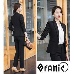 Bộ Vest Nữ - Set nguyên bộ áo Vest quần dài công sở Hàn Quốc Siêu Xinh