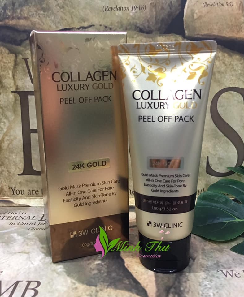 Mặt Nạ Vàng 3W Clinic Collagen Luxury 24K Gold Peel Off Pack