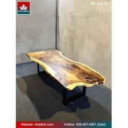 Bàn Ăn Gỗ Me Tây Nguyên Khối Dài 262 Rộng 117-90-110 Dày 5,3 Cao 75 (cm)