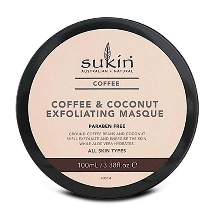 Mặt nạ tẩy tế bào chết Cà phê & dừa Sukin Coffee & coconut Exfoliating masque 100ml