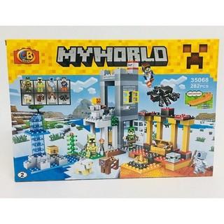 Bộ Lego Xếp Hình Minecraft My World 282 Chi Tiết. Lego Ninjago Lắp Ráp Đồ Chơi Cho Bé. - 35068 thumbnail