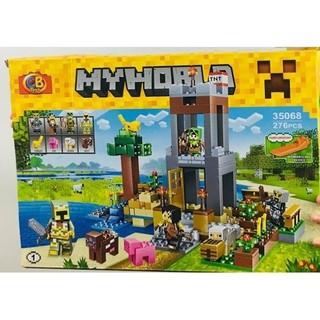 Bộ LeGo Xếp Hình Minecraft My World 35068. Gồm 276 Chi Tiết. Lego Ninjago Lắp Ráp Đồ Chơi Cho Bé - NO.30568 thumbnail