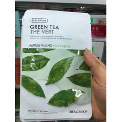 Mặt Nạ Real Nature GREEN TEA Mask Sheet TheFaceShop