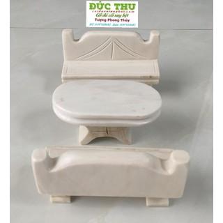 Bộ bàn ghế mini đk 15cm - bộ bàn ghế mini đk 15cm thumbnail
