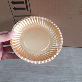 50 Đĩa Giấy Vàng Pet 16cm - DGVP16-2 thumbnail