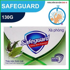 Xà bông cục Safeguard Xanh 130g [made in Philippines] - 4902430284264