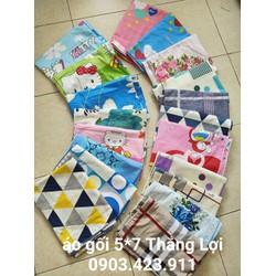 áo gối cotton Th ắng Lợi và cotton Hàn Quốc - xịn sò siêu rẻ, mát k xù, k phai