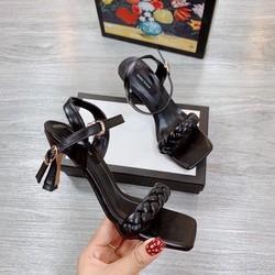 Sandal nữ - Sandal cao gót quai bện (miễn ship khách lấy như hình hướng dẫn)