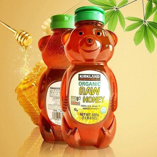 Mật ong kirkland honey bear 680gr date 2022