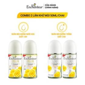 Combo 2 Lăn khử mùi nước hoa/ trắng da Enchanteur Charming 50ml/ Chai - Combo 2 Lăn khử mùi nước hoa/ trắng da Enchan