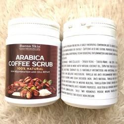 Muối tắm Cà phê Cốt dừa Hạnh nhân Tẩy tế bào chết Buena Skin 200g