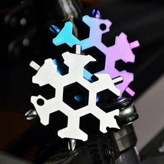 Cờ lê lục giác 19 in 1 hình bông tuyết, cờ lê lục giác đa năng tích hợp đầy đủ 19 chức năng thường dùng nhất - Cờ lê bông tuyết thumbnail